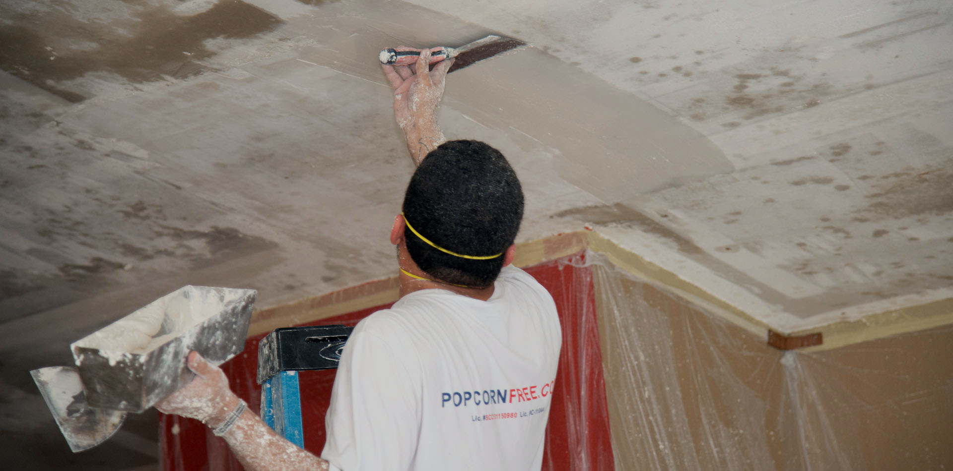 Applying Ceiling Compount for Repair