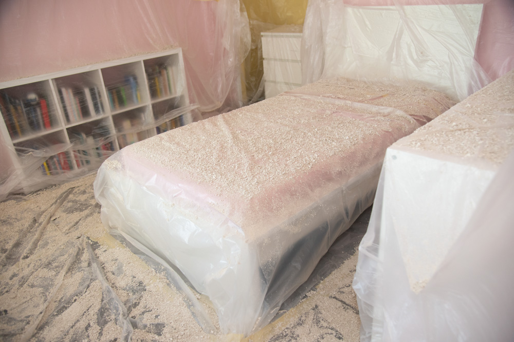 Drop Cloth Protecting Bed